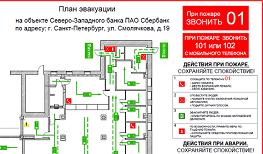 План эвакуации СБЕРБАНК фрагмент1